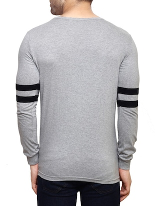 grey cotton  t-shirt - 14543085 - Standard Image - 3