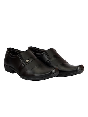 black Leather formal slip on - 14543762 - Standard Image - 3