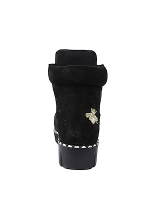 black ankle length  boot - 14543824 - Standard Image - 3