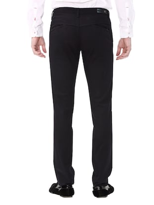 navy blue cotton chinos casual trouser - 14543924 - Standard Image - 3