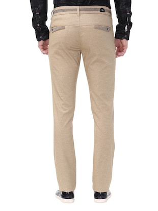 beige cotton chinos casual trousers - 14543952 - Standard Image - 3