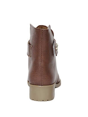 brown  faux leather ankle boot - 14544458 - Standard Image - 3