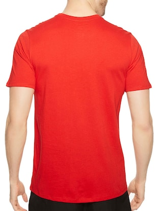 red cotton chest print tshirt - 14546364 - Standard Image - 3