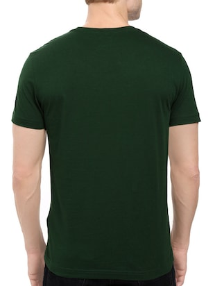 green cotton chest print tshirt - 14546380 - Standard Image - 3