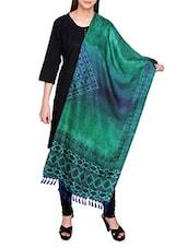 Green Poly Silk Tie & Dye Dupatta - By