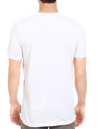 white cotton chest print tshirt - 14547866 - Standard Image - 3