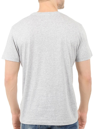 grey cotton chest print tshirt - 14547888 - Standard Image - 3