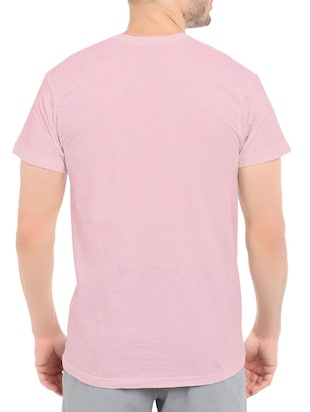 pink cotton front print t-shirt - 14548106 - Standard Image - 3