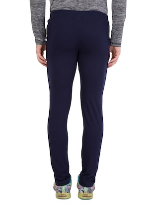 navy blue cotton  full length track pant - 14549608 - Standard Image - 3