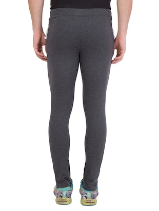 grey cotton  full length track pant - 14549611 - Standard Image - 3