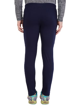 navy blue cotton  full length track pant - 14549626 - Standard Image - 3