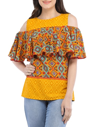0c713bbd Buy Yellow Colour Tops For Women In India @ Limeroad
