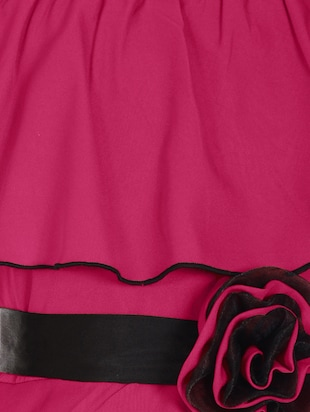 pink polyester frock - 14555869 - Standard Image - 3
