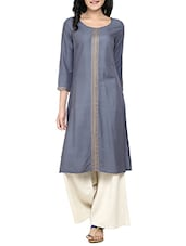 grey rayon straight kurta -  online shopping for kurtas