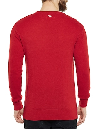 red wooll pullover - 14561628 - Standard Image - 3