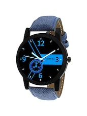 Golden Bell Original Multicolour Dial Blue Denim Strap Analog Wrist Watch for Men - GB-941 -  online shopping for Men Analog Watches