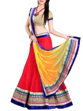 red net panelled lehenga -  online shopping for lehengas