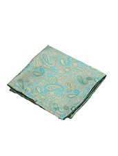 green jaquard handkerchief -  online shopping for Handkerchiefs