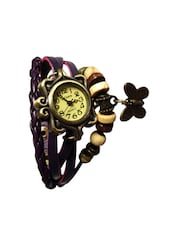 Women Purple Buterflay Strap Watch -  online shopping for Analog watches