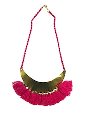 Pink Metal Tribal Necklace - By