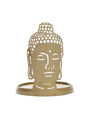Buddha T- Light Candle Holder Gold - 14656152 - Standard Image - 3