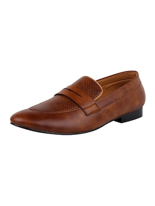 tan Leatherette slip on - 14658850 - Standard Image - 3