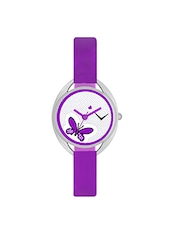 The Shopoholic Awesome Purple Designer Butterfly Dial Analog Watches For Women-Watches For Girls Formal -  online shopping for Analog watches