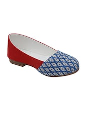 red canvas flat ballerinas -  online shopping for flats