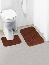 Thick and fluffy 1800 GSM bathmat with High Pile Microfiber with Contour -  online shopping for bath mats