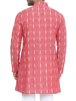 pink cotton long kurta - 14738826 - Standard Image - 3