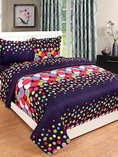 Printed Polycotton Double Bedsheet With 2 Pillow Cover -  online shopping for bed sheet sets
