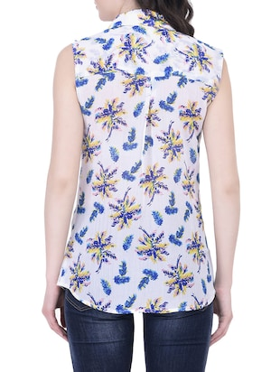 white floral shirt - 14745879 - Standard Image - 3