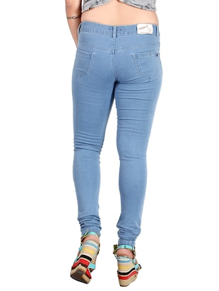 c1c4a51bee1 Buy Light Blue Denim Jeans by Fck-3 - Online shopping for Jeans in ...