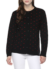 black woolen cardigan -  online shopping for Cardigans