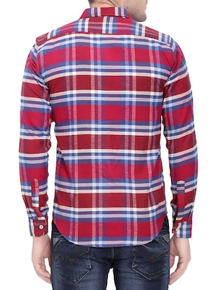 red cotton casual shirt - 14762024 - Standard Image - 3