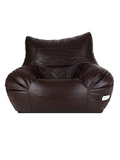 Gunj Jumbo Teardrop Bean Bag Cover Without Bean Filling (Brown) -  online shopping for Bean bags