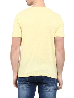 yellow cotton t-shirt - 14774628 - Standard Image - 3