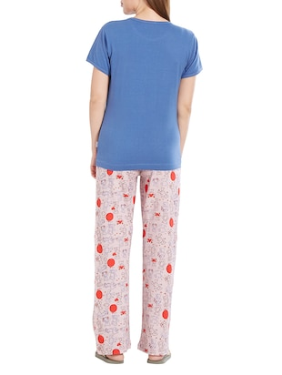 blue nightwear pyjama set - 14776628 - Standard Image - 3