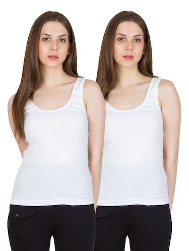 a261a2ced8063 Buy White Cotton Camisole by Smexy - Online shopping for Camisoles in India