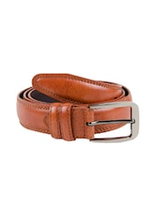orange leather belt -  online shopping for Belts