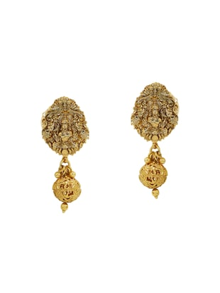 Golden Colored Br Necklace Earrings 14795762 Standard Image