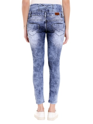 blue denim distressed jeans - 14848349 - Standard Image - 3