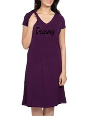 purple printed sleepshirt -  online shopping for Sleepshirts & Nighties