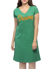 green printed sleepshirt -  online shopping for Sleepshirts & Nighties