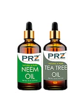 PRZ Combo Of Neem Carrier Oil & Tea Tree Oil For Hair Growth, Skin Care (Each 15ML ) - By