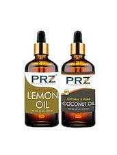 PRZ Combo Of Lemon Oil & Extra Virgin Coconut Oil For Hair Growth, Skin Care (Each 15ML ) - By