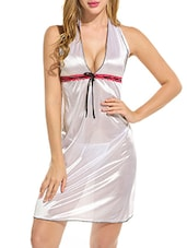 white solid halter neck nighty -  online shopping for Sleepshirts & Nighties