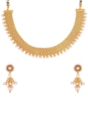 gold brass short necklace -  online shopping for Necklaces
