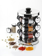 Revolving Spice rack with Heavy Stainless steel Base -  online shopping for Spice Racks