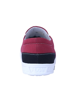 red Canvas casual slipon - 14875963 - Standard Image - 3